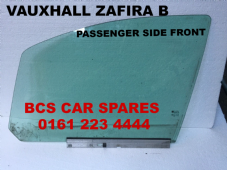 VAUXHALL  B ZAFIRA  B  N/S  SIDE DOOR WINDOW / GLASS  FRONT   2010  - 2014  USED